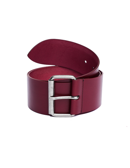 Ann Demeulemeester Leather Belt - Burgundy
