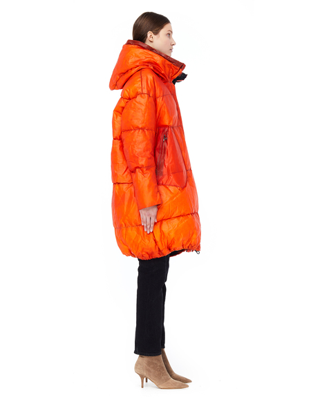 Isaac Sellam Leather Down Coat - Orange
