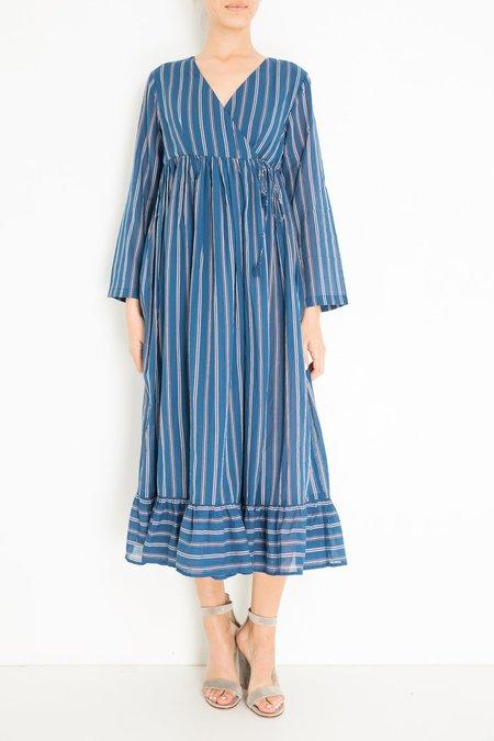 ne quittez pas STRIPE DRESS - BLUE