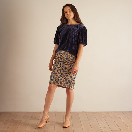 The ODELLS Sequin High Waist Skirt - Glitz Embroidery