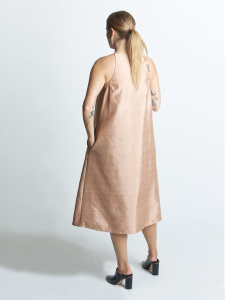 Beth Yard Dress - Terracotta Dupioni