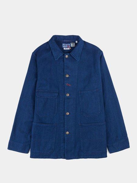 "Blue Blue Japan Woven ""Sashiko"" Railroad Worker Jacket - Indigo"