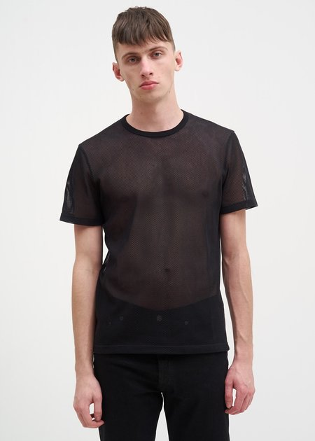Helmut Lang Logo Mesh T-Shirt - Black