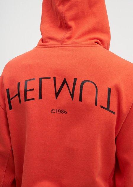 Helmut Lang Helmut Logo Hack Hoodie - Lava