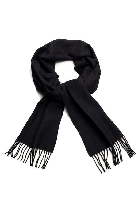 Unisex Hunting Ensemble Lambswool Scarf - Black