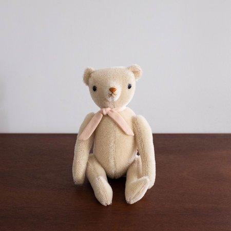 KIDS Polka Dot Club Classic Bear - Cream/Pink Ribbon