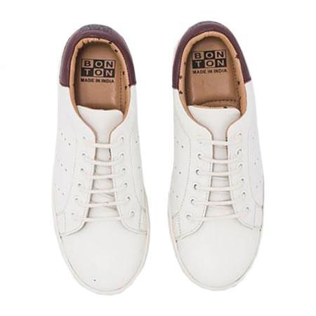 Bonton Child And Woman Sneaker Shoes - Ecru White