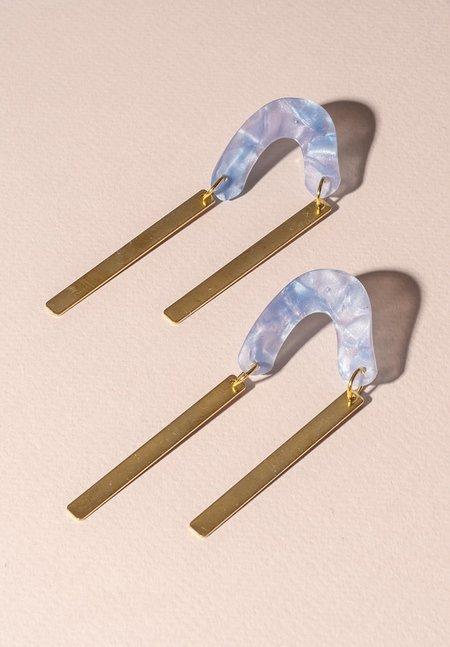 One Story arc Earrings - BLUE
