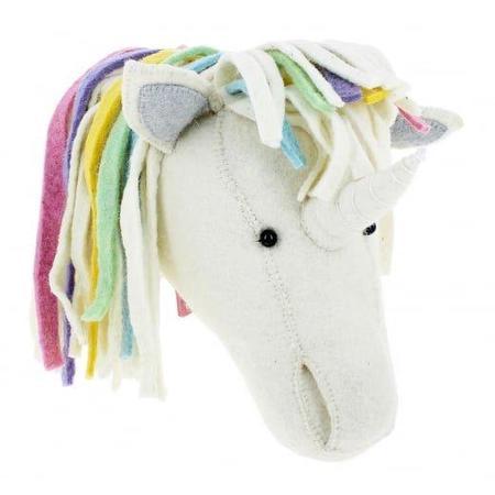 Kids Fiona Walker England Unicorn Headdress - Pastel Rainbow