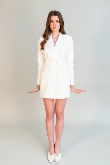 Ronny Kobo Marlina Blazer Dress - Ivory