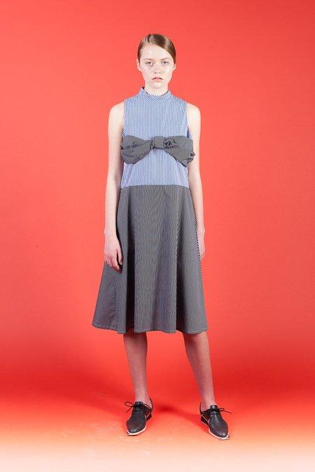 Toit Volant Lola I Dress - Blue White/Black White Stripes
