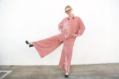 Vivetta Berna Long Trouser with Pocket - Rose
