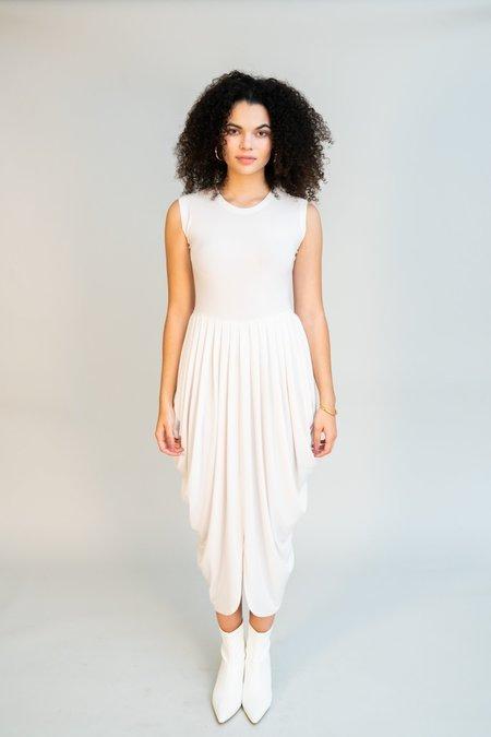 Norma Kamali Sleeveless Waterfall Dress