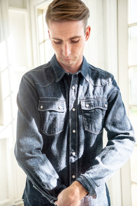 freenote rambler shirt - light blue