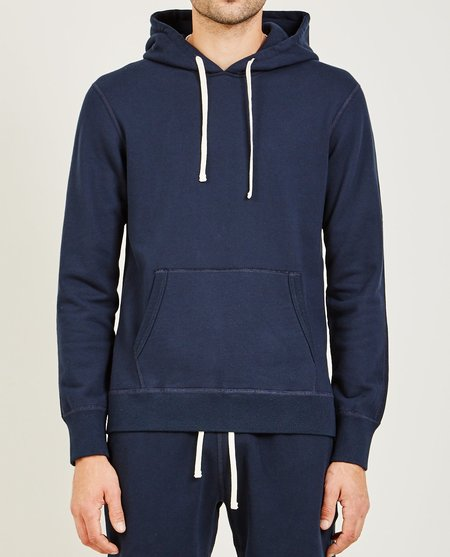 Reigning Champ CORE PULLOVER HOODIE - NAVY