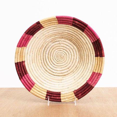 Kazi Rosette Color Blocked Raffia Large Bowl