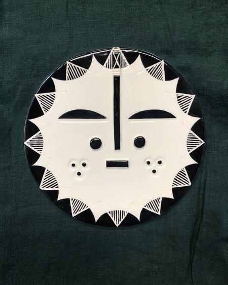 LOUISE KYRIAKOU ZILLAH Small Ceramic Face Wall Hanging - White