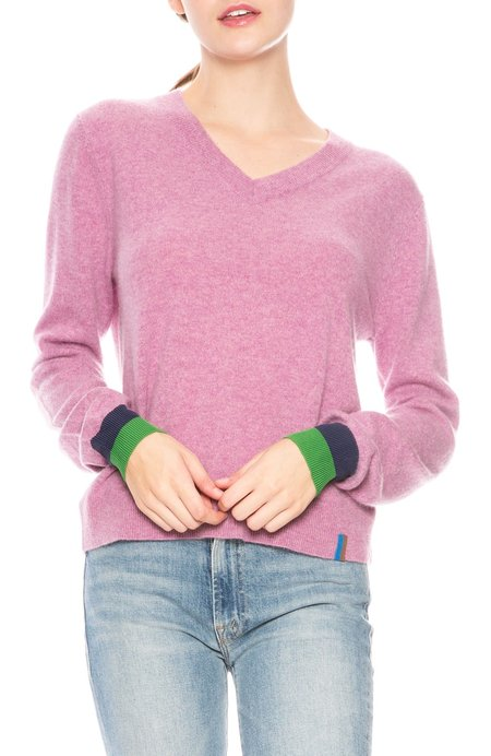Kule Sawyer V-Neck Sweater - Berry