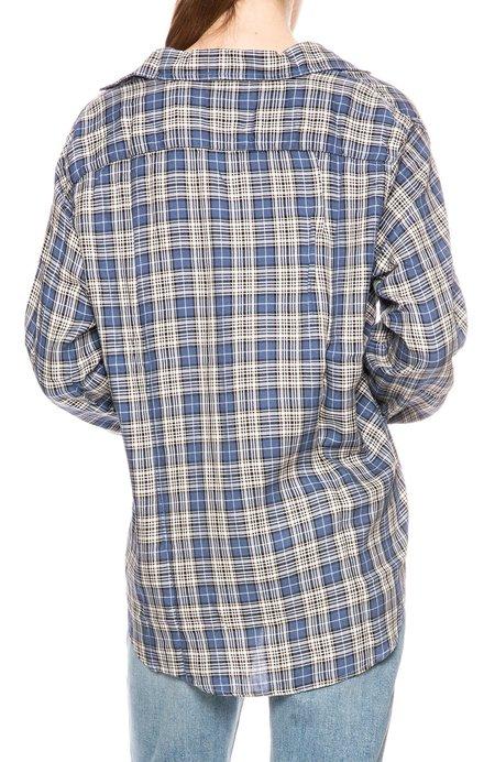 Frank & Eileen Eileen Plaid Modal Button Down Shirt - Blue Plaid