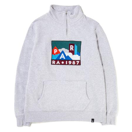by Parra Mountains of 1987 Quarter Zip Pullover - Ash Grey