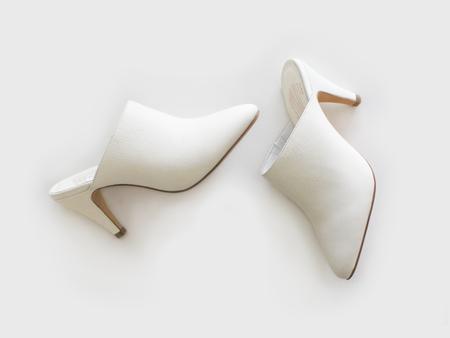 Charlotte Stone Mules - White