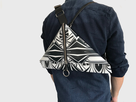 Simone Rainer Backpack Triangle Clutch - Kaleido