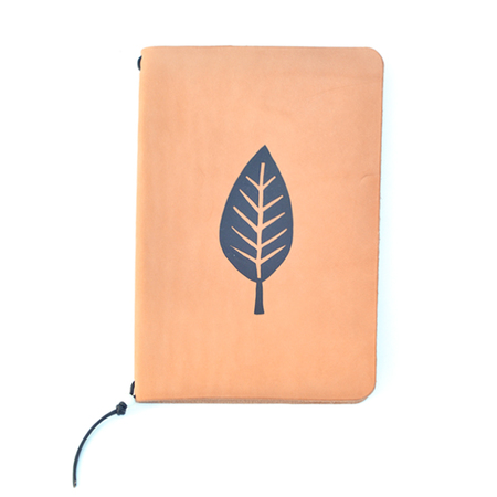 Yusuke Hanai x Made Solid Original Paint on Leather Journal - Leaf