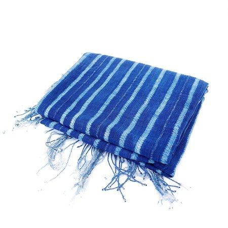 Vintage West African Indigo Cloth - Stripes