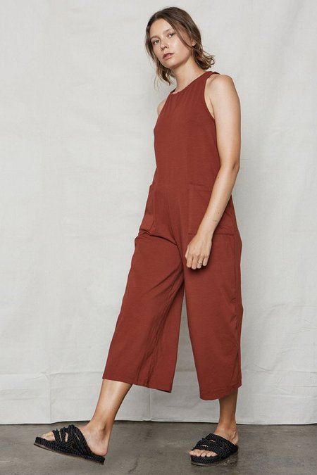 back beat rags Everyday Jumpsuit - Wine