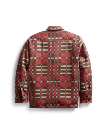 RRL Jacquard Overshirt - Red Warm Black