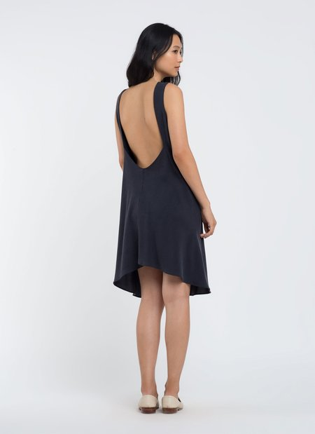 KAAREM Beryl Low Back Dress - Dark Blue