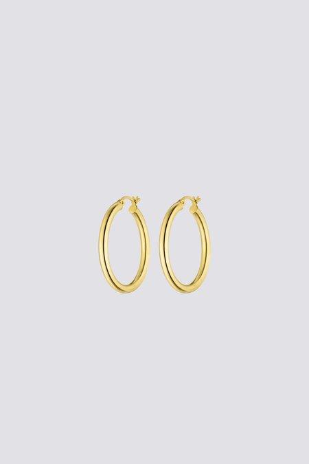 Nina Kastens Large Hoops - Gold