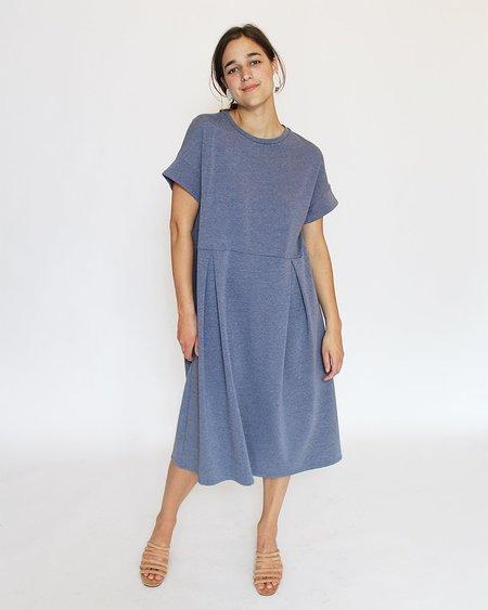 Corinne Finola Pleat Dress - Chambray