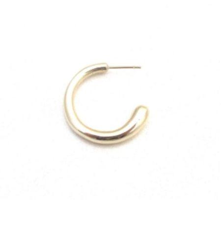 Jacqueline Rose Fluid Hoop Earrings - Bronze