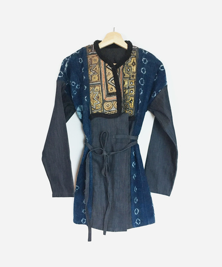 COATZ Raja III Wrap Coat - BLUE
