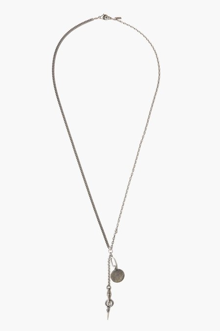 Unisex Chan Luu Dagger Necklace with Charm - Silver