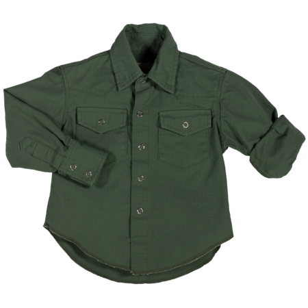Kids Hey Gang Ripstop Western Shirt - Army