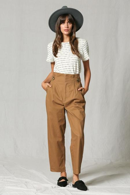 By Together Dwelling on Dreams High Waisted Trousers - Camel