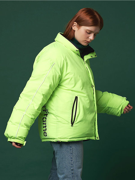 Unisex ANOTHER FRAME Reversible Puffy Down Jacket - Navy/Green