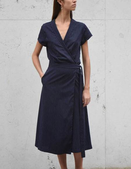 Son Trava Mira Cotton Dress - BLUE
