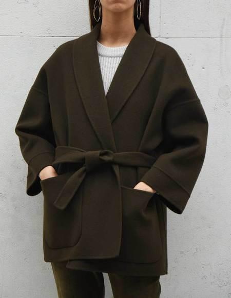 Asciari Milano Edera Extra Fine Wool Coat - Mud Brown
