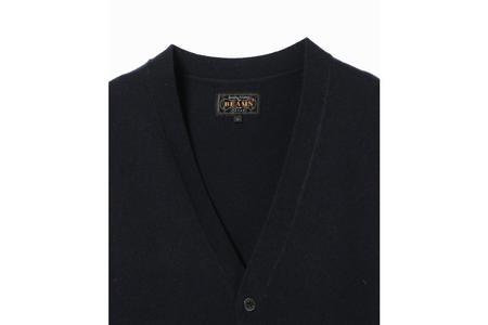 Beams + Button Knit Vest - Navy