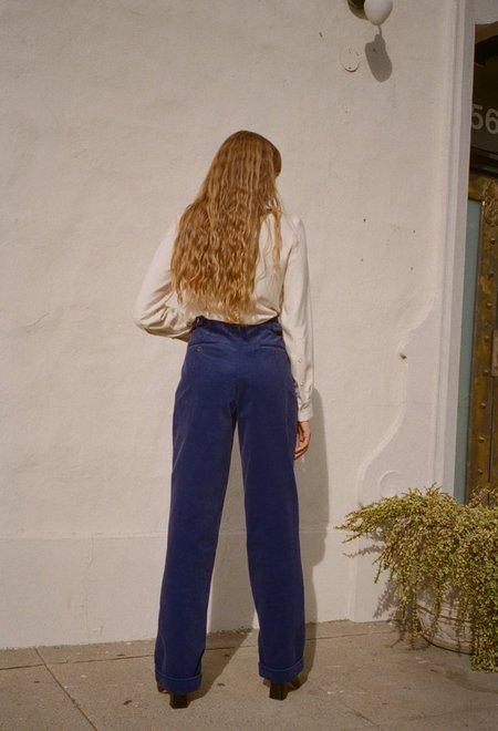 Da/Da Diane Ducasse Corduroy Straight Pants - Blue