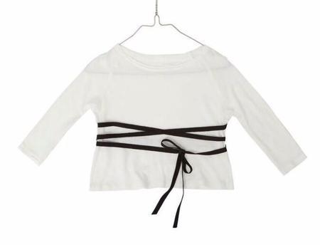 KIDS Little Creative Factory Baby Sack Shirt - WHITE