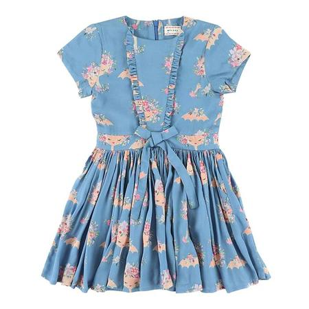 KIDS Morley Child India Dress - Blue With Parasol Print