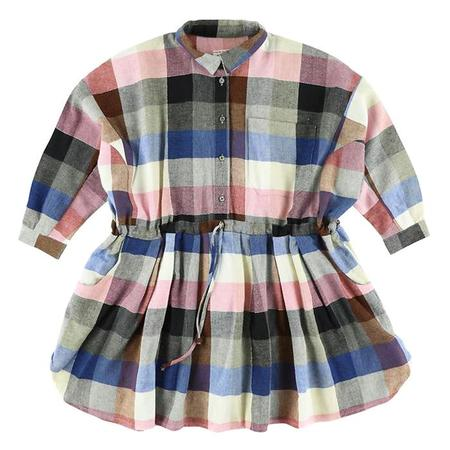 KIDS Morley Child Izumi Dress - Kili Blue And Rose Pink Plaid