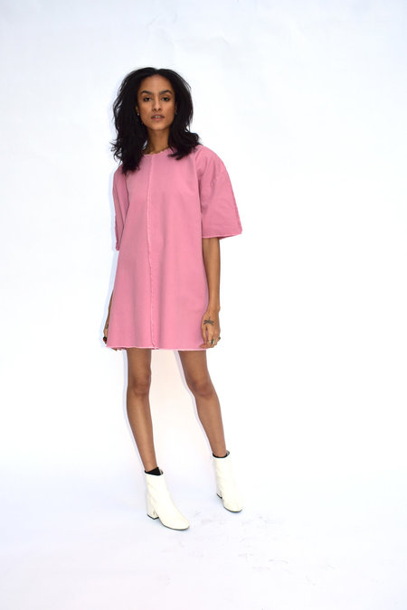 Ashley Rowe Seams Out Short Dress - Pink