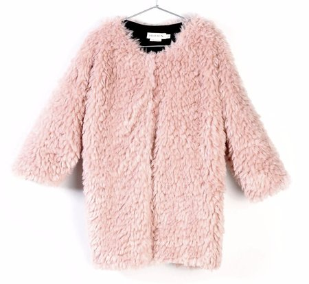 KIDS Andorine Faux Fur Coat - PINK