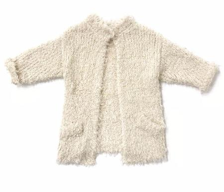 Kids Rylee + Cru Furry Knit Sweater