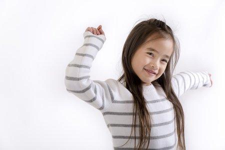 KIDS ATELIER CHILD Striped Crew - GREY